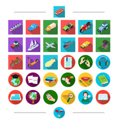 land travel tourism and other web icon in vector image