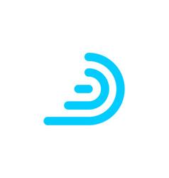 letter d signal emission logo designs inspiration vector image