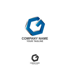 Letter g logo icon flat and design template vector