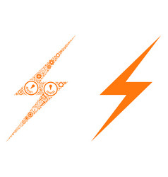 lightning collage of service tools vector image