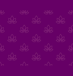 Lotus zen seamless pattern background vector