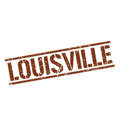 Louisville brown square stamp vector