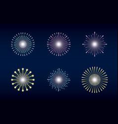 Mardi gras set splash lights vector