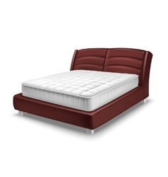 Mattress Bed Realistic vector