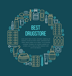 medical drugstore poster template vector image