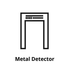 metal detector line icon vector image