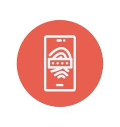 Mobille wifi thin line icon vector