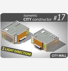 modern isometric mall vector image