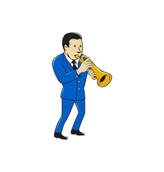 Musician Playing Trumpet Cartoon vector