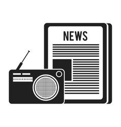 Newspaper communication news vector