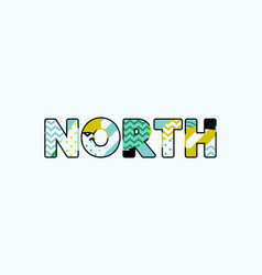 North concept word art vector