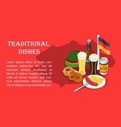 October fest beer drink menu banner isometric vector