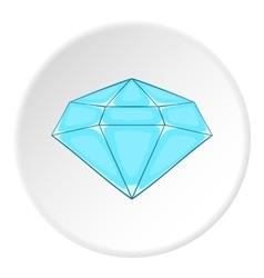 Polished diamond icon cartoon style vector