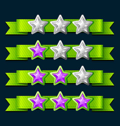 Ranking Game Elements vector image
