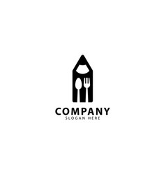 Restaurant logo design with forks and spoons vector
