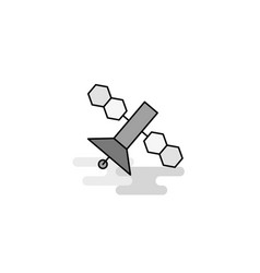 satellite web icon flat line filled gray icon vector image