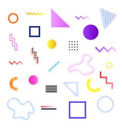 set memphis elements vector image