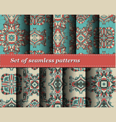 Set of seamless abstract pattern vector