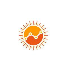 Stats sun logo icon design vector