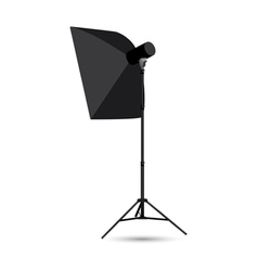 Studio lighting isolated on the white background vector image