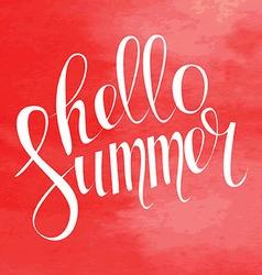 Summer Typography Lettering vector