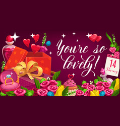 valentines love and passion holiday vector image