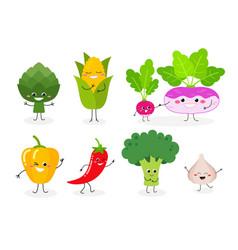 veggie set n2 vector image