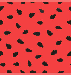 Watermelon background with black seeds seamless vector