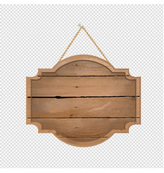 wooden sign isolated transparent background vector image