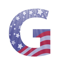 american letter G vector image vector image