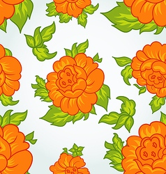 Cute flower seamless background vector image vector image