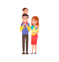 happy lovely family icon vector image