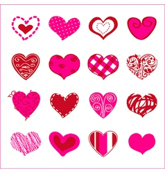 Set of hand drawn hearts for You vector image vector image
