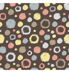 Stylish hand drawn polka dot seamless patterns vector image vector image