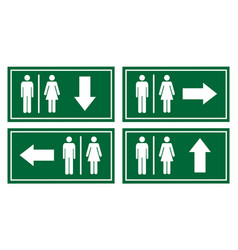 toilet signage set vector image vector image