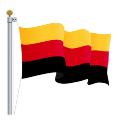 waving germany flag isolated on a white background vector image