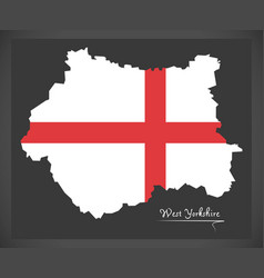 West yorkshire map england uk with english vector