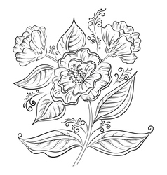 Abstract flower outline vector