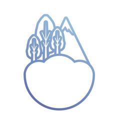 alps icon image vector image vector image