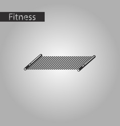 black and white style icon mat for fitness vector image