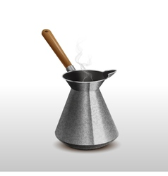 Cezve for coffee restaurants menu vector image