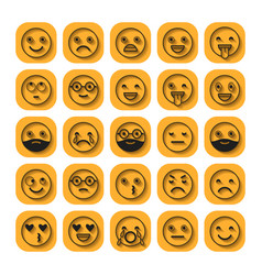 emoticons flat icons smile with a beard vector image vector image