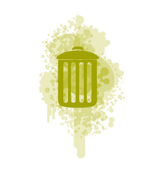 green recycle basket icon vector image