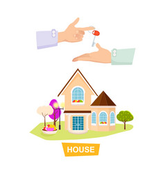 new house on white background property selling vector image