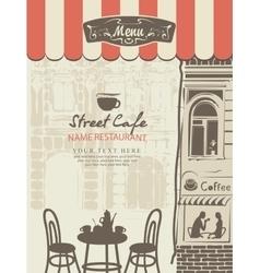 outdoor cafe menu vector image vector image