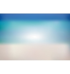 Summer background with white sand sea and sky vector image