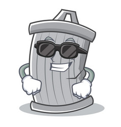 super cool trash character cartoon style vector image vector image