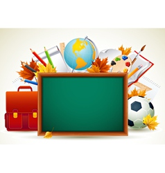 vetor back to school background vector image