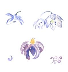 Watercolor violet flowers vector image