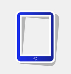 computer tablet sign new year bluish icon vector image